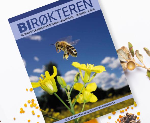 Tidsskriftet Birøkteren for Norges Birøkterlag. Året er 2016
