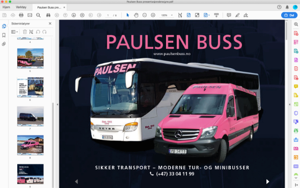 Paulsen Buss brosjyre