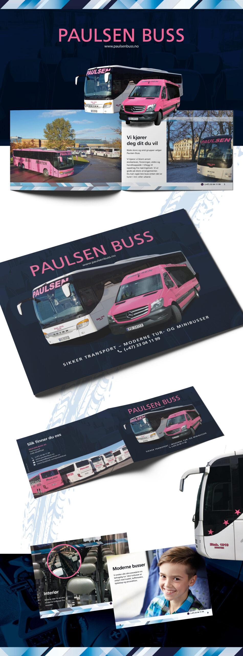Brosjyre for Paulsen Buss