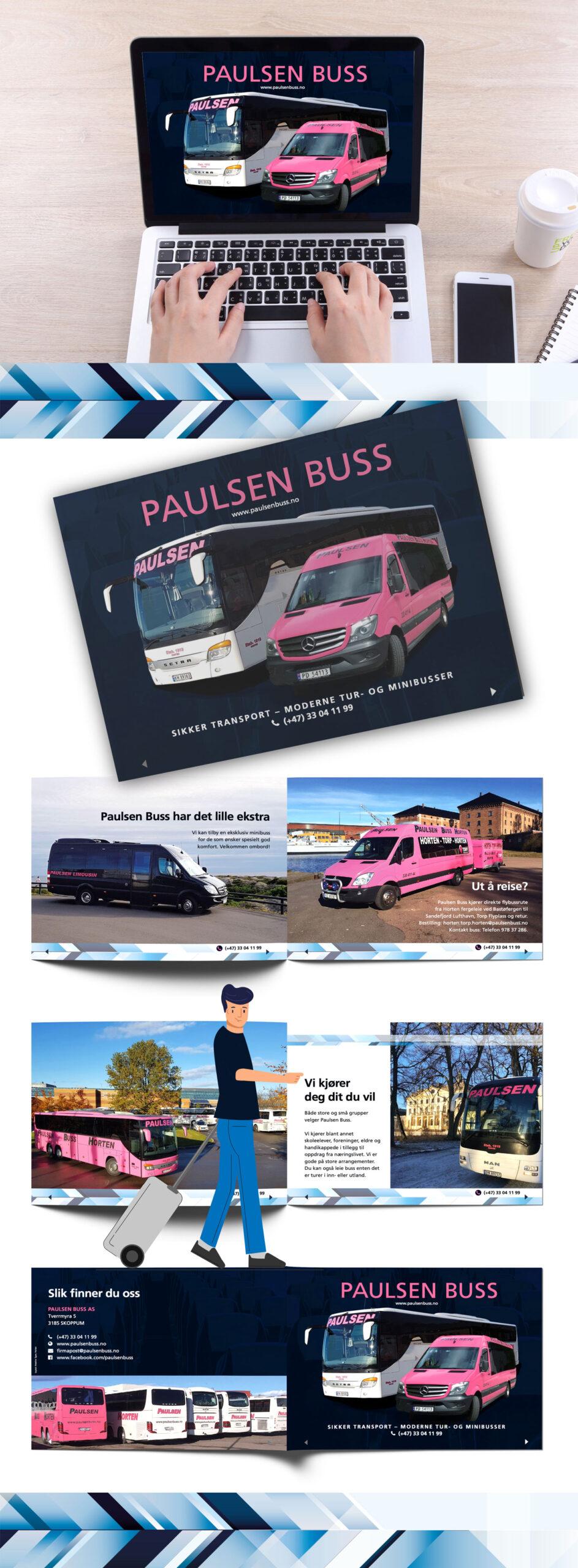 Digital brosjyre for Paulsen Buss